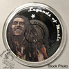 Solomon Islands: 2019 $5 Legends of Music: Bob Marley 1 oz. Pure Silver Coloured Coin