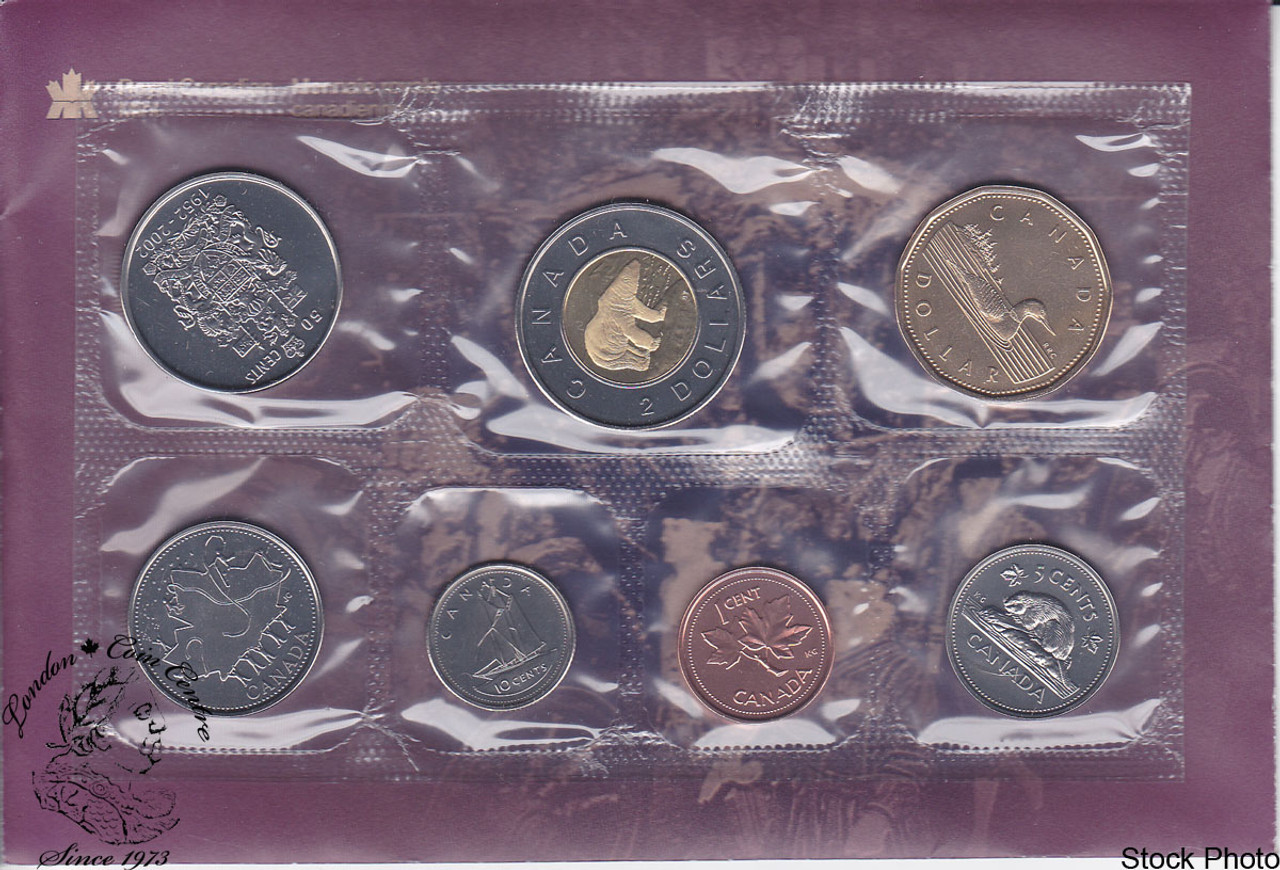 Sealed OH CANADA RCM 7 Coins Uncirculated Coin Set 1995 CANADA