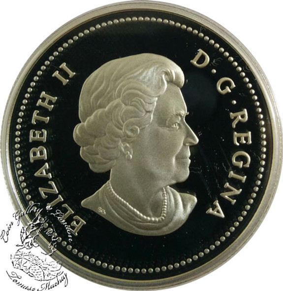 Canada: 2005 $1 40th Anniversary of Canada's National Flag Proof Silver Dollar Coin