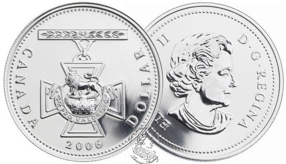 Canada: 2006 $1 150th Anniversary of the Victoria Cross BU Silver Dollar Coin