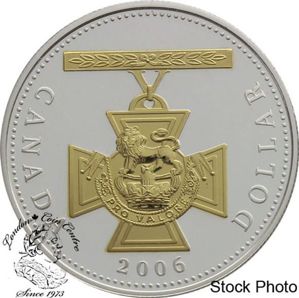 Canada: 2006 $1 150th Anniversary of the Victoria Cross Gold Plated Proof Silver Dollar Coin