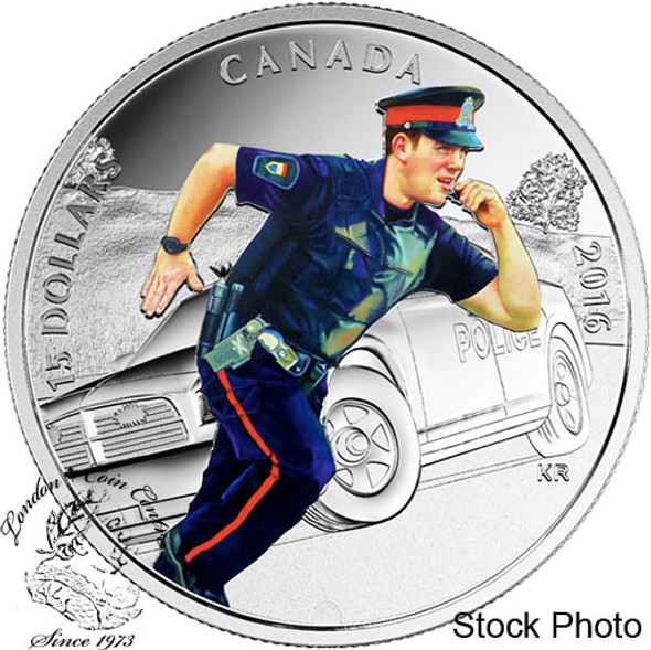 Canada: 2016 $15 National Heroes - Police Silver Coin