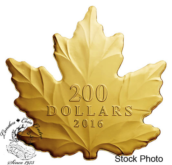 Canada: 2016 $200 Maple Leaf Silhouette Gold Coin