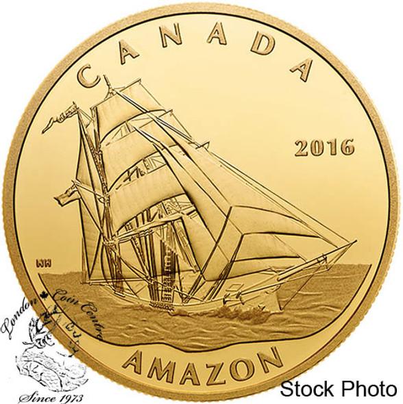 Canada: 2016 $200 Tall Ships Legacy: Amazon Gold Coin
