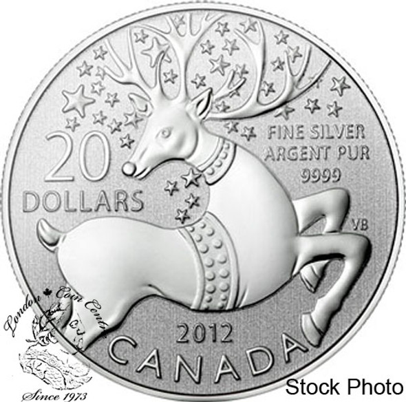 "Canada: 2012 $20 ""Magical Reindeer"" Pure Silver Coin"