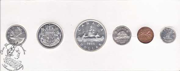 Canada: 1955 Proof Like / PL Coin Set in Orginal Cardboard