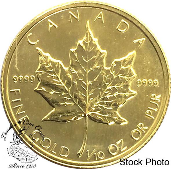Canada: $5 Pure Gold Maple 1/10 oz (Random Year)
