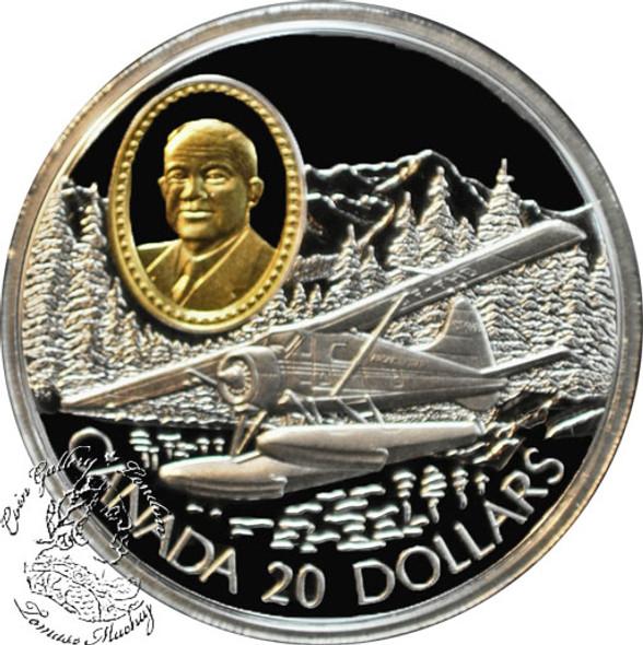 Canada: 1991 $20 de Havilland Beaver Aviation Coin 1-4