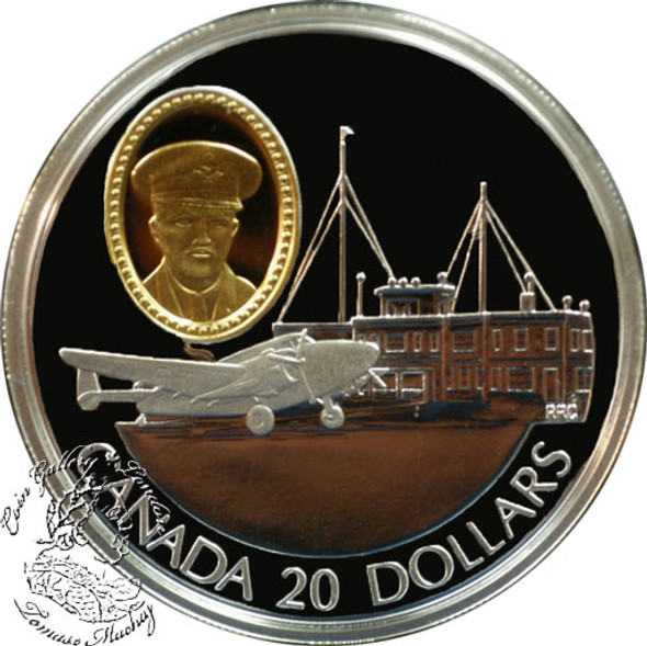 Canada: 1993 $20 Lockheed 14 Super Electra Aviation Coin 1-8