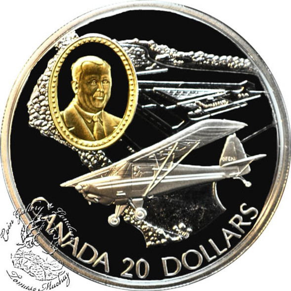 Canada: 1995 $20 Fleet 80 Canuck Aviation Coin 2-1