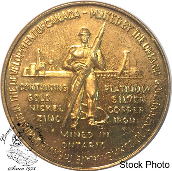 Canada: 1967 Confederation Token / Medallion - Commemorating Mining in Canada - Gold Colour