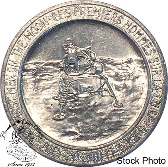 Apollo 11 Medallion in Aluminum - E. Aldrin - M. Armstrong - M. Collins