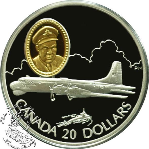 Canada: 1998 $20 Canadair CP-107 Argus Aviation Coin 2-7
