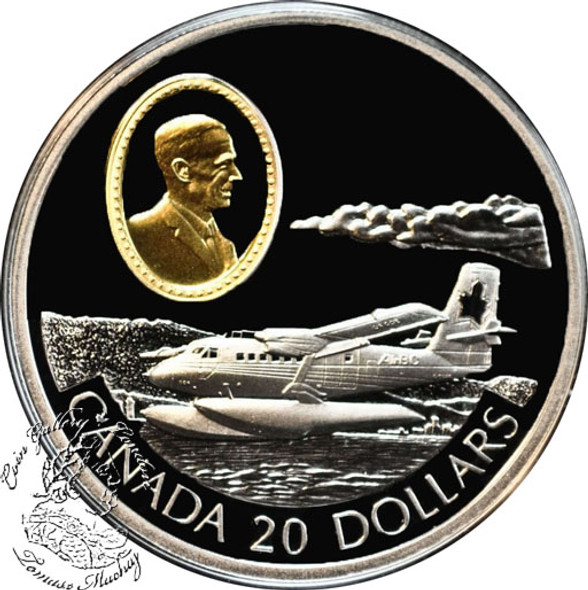 Canada: 1999 $20 de Havilland DHC-6 Twin Otter Aviation Coin 2-9