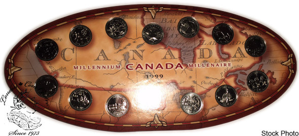 Canada: 1999 25 Cent Millennium Set with Medal