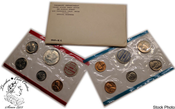 United States: 1968 Mint Coin Set