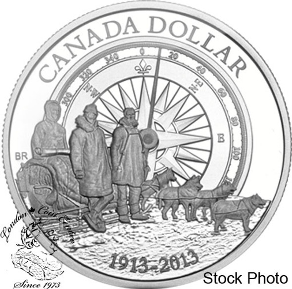 Canada: 2013 $1 100th Anniversary of the Canadian Arctic Expedition Proof Silver Dollar