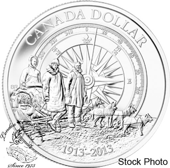 Canada: 2013 $1 100th Anniversary of the Canadian Arctic Expedition Brilliant Uncirculated Silver Dollar
