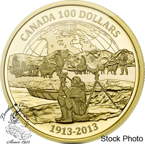 Canada: 2013 $100 100th Anniversary of the Canadian Arctic Expedition Gold Coin