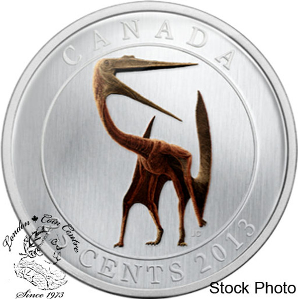 Canada: 2013 25 Cents Quetzalcoatlus Dinosaur Glow in the Dark Coin