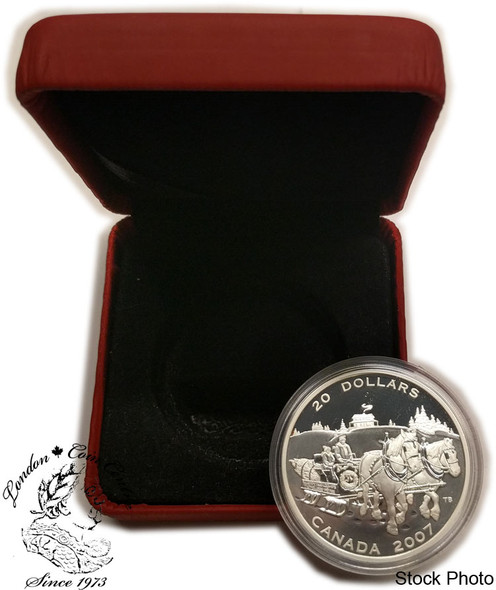 Canada: 2007 $20 Holiday Sleigh Ride Coin