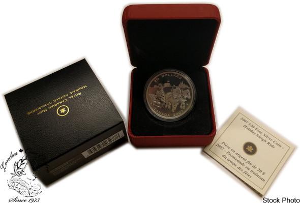 Canada: 2007 $20 Holiday Sleigh Ride Coin