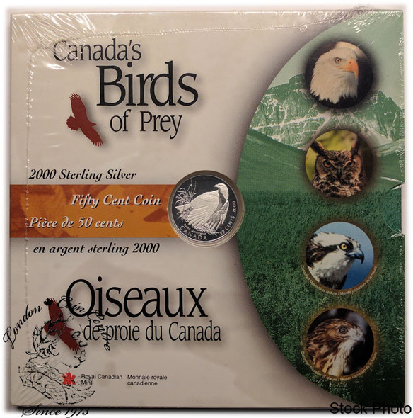 Canada: 2000 50 Cents Birds of Prey Red Tailed Hawk Coin