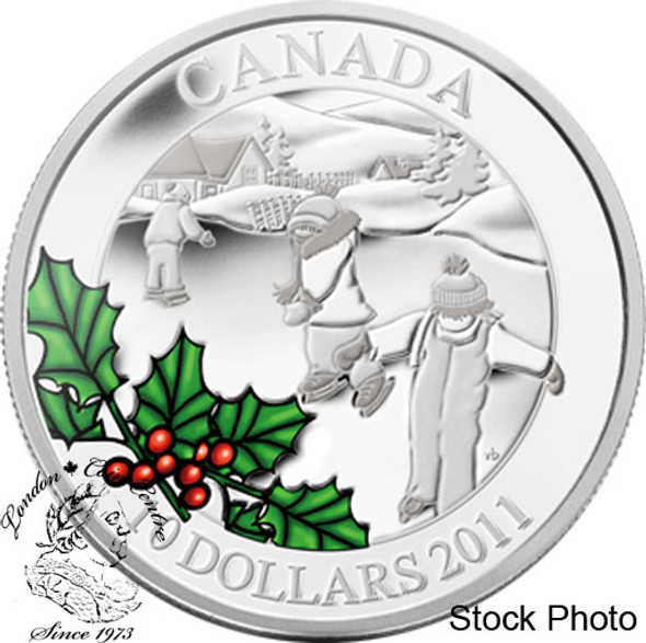Canada: 2011 $10 Little Skaters Silver Coin
