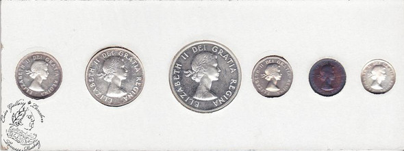 Canada: 1959 Proof Like / PL Coin Set in Original Cardboard