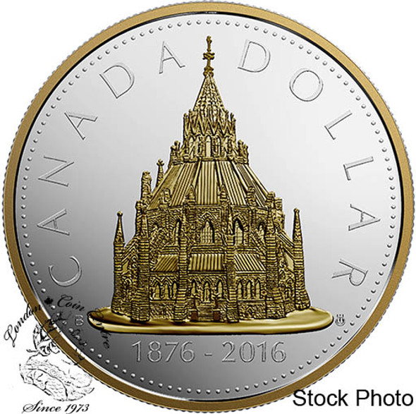 Canada: 2016 $1 Library of Parliament 2oz Silver Coin