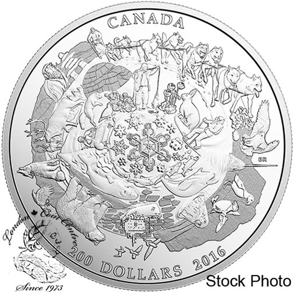 Canada: 2016 $200 Canada's Icy Arctic Silver Coin