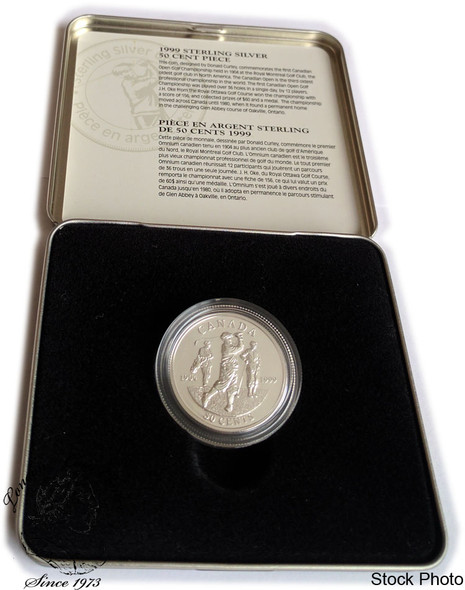 Canada: 1999 50 Cent Golf Open Sterling Silver Coin