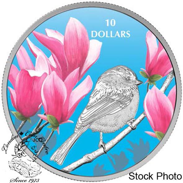 Canada: 2017 $10 Birds Among Nature's Colours - Chickadee Silver Coin