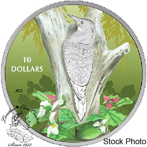 Canada: 2017 $10 Birds Among Nature's Colours - Northern Flicker Silver Coin