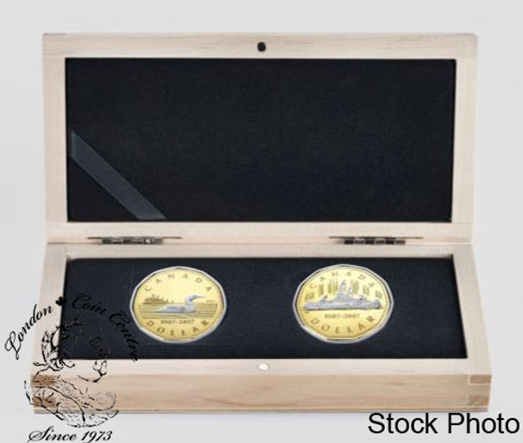Canada: 2017 $1 30th Anniversary of the Loonie 2 Gold Coin Set