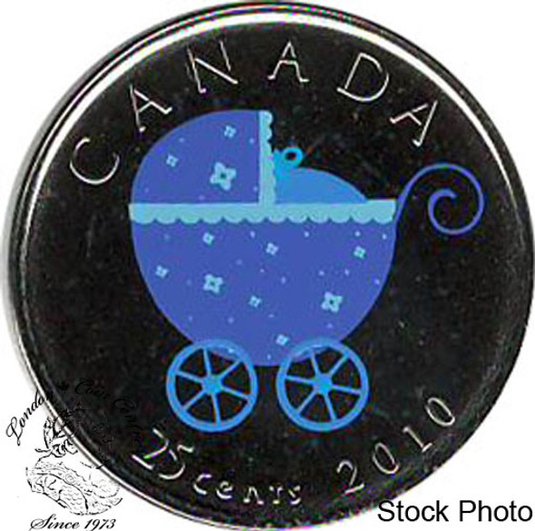 Canada: 2010 25 Cent Baby Carriage Proof Like