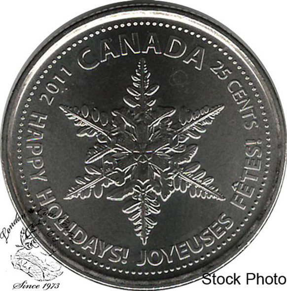 Canada: 2011 25 Cent Holiday Snowflake Proof Like