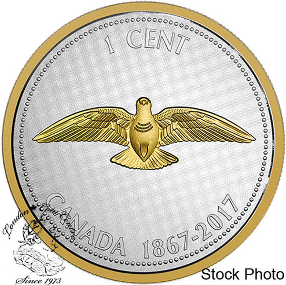 Canada: 2017 1 Cent Rock Dove Big Coin Series: Alex Colville Design Silver 5 Ounce Coin