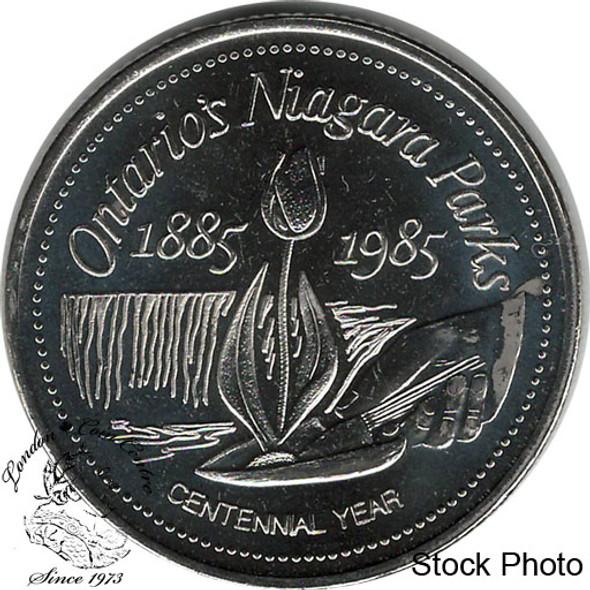 Canada: 1885-1985 Ontario's Niagara Parks Niagara Falls Trade Dollar