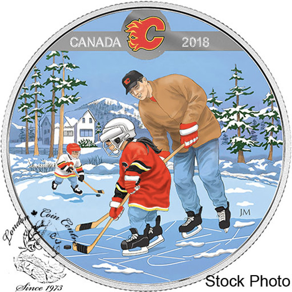 Canada: 2018 $10 Learning to Play: Calgary Flames® Silver Coin