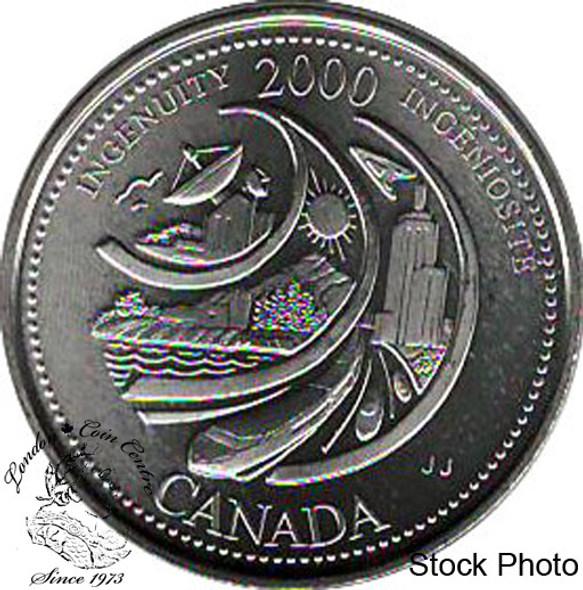 Canada: 2000 25 Cent February Ingenuity BU
