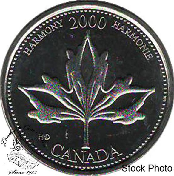 Canada: 2000 25 Cent June Harmony BU