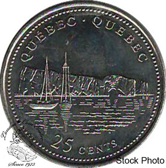 Canada: 1992 25 Cent Quebec BU
