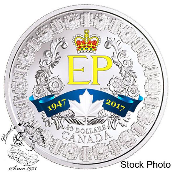 Canada: 2017 $20 A Platinum Celebration Silver Coin