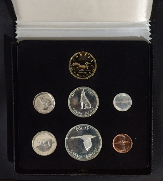 Canada: 1967 Specimen Coin Set with 1992 Loonie in RCM Display Case