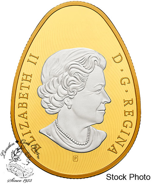 Canada: 2018 $20 Golden Spring Pysanka - 1 oz. Pure Silver Gold-Plated Coin