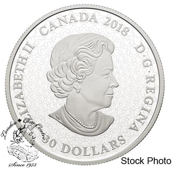 Canada: 2018 $30 Fireworks at the Falls Pure Silver Glow-in-the-Dark Coin