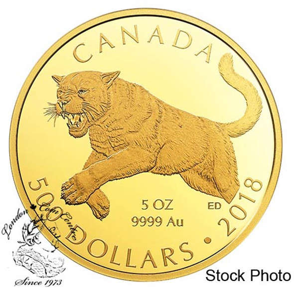 Canada: 2018 $500 Cougar Pure Gold Coin