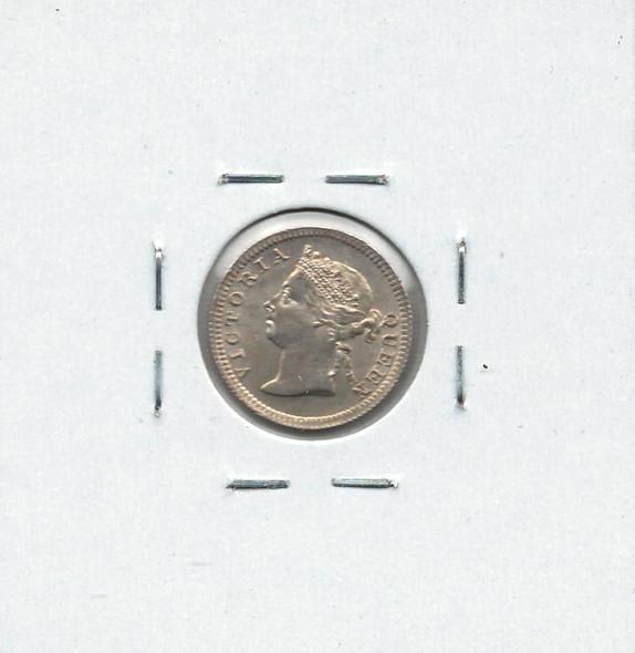 Hong Kong: 1901 Silver 5 Cents