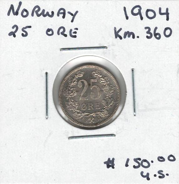 Norway: 1904 25 Ore #2